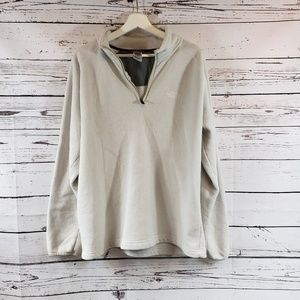 North Face 1/4 Zip White/Off-white Pull Over